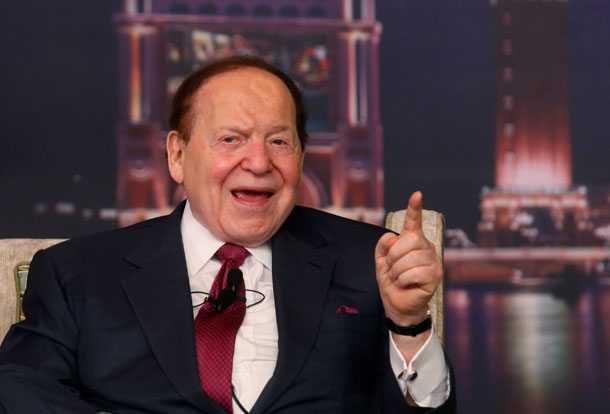 This year, casino magnate Sheldon Adelson will spend $100 million to shape the tax code to his liking through the policies of Republican presidential nominee Gov. Mitt Romney.