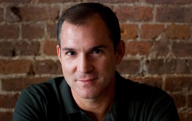 """Frank Bruni, who covered George W. Bush's 2000 presidential campaign for The New York Times, poses for a portrait at """"Wine & Roses"""" restaurant in New York."""
