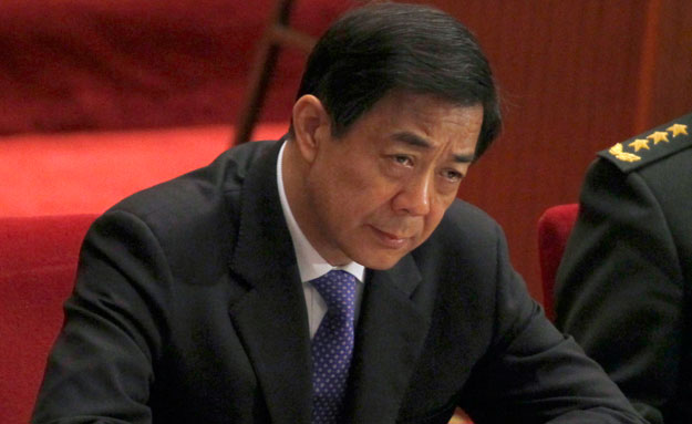 Former Chongqing Party Secretary Bo Xilai attends the closing session of the Chinese People's Political Consultative Conference in Beijing's Great Hall of the People. It was announced today that Bo has been expelled from the Communist Party as a result of the scandals surrounding him and his wife.