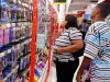Parents and students shop for back-to-school supplies