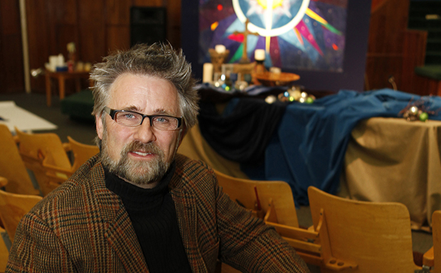 Rev. Mark Tidd sits in the Highlands Church in Denver, Colorado. His church is an evangelical Christian church guided both by the Apostle's Creed and the belief that gays and lesbians can embrace their sexual orientations as God-given and seek fulfillment in committed same-sex relationships.