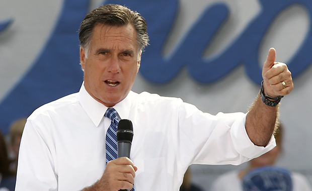 Republican presidential candidate Mitt Romney speaks in Portsmouth, Ohio, Saturday, October 13, 2012.