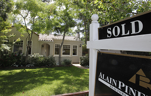 An exterior view of a home sold in Palo Alto, California, Tuesday, August 21, 2012. The housing market is finally and slowly recovering from historic lows, as new home sales amounted to an annual rate of 389,000 in September 2012, up from 306,000 in September 2011.