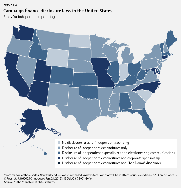 Campaign finance disclosure laws in the United States