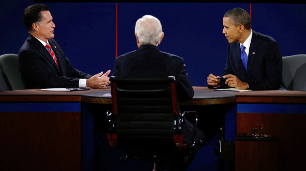Romney and Obama at the third debate