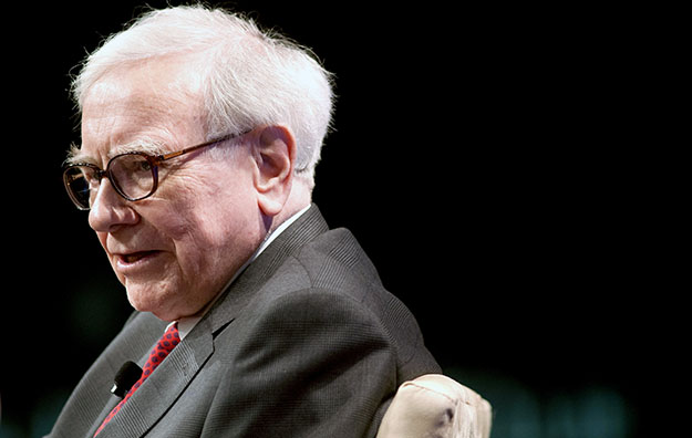 Warren Buffett, chairman and CEO, of Berkshire Hathaway, Inc., speaks during the Economic Club of Washington's 25th anniversary celebration dinner in Washington.