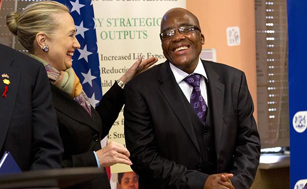 Hillary Rodham Clinton, Aaron Motsoaledi