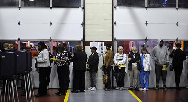 Voting line in South Carolina