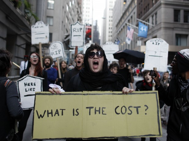 An offshoot of Occupy Wall Street has turned to ancient religious teachings to take on America's mounting consumer debt.