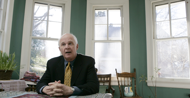 "Taylor Branch answers a question during an interview soon after the release of his book, ""At Canaan's Edge: America in the King Years, 1965-68"" on January 15, 2006."