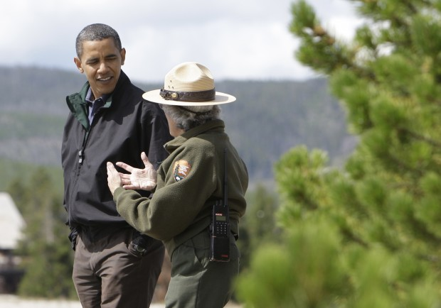 Obama with a Park Ranger