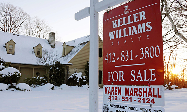 A home for sale in Mount Lebanon, Pennsylvania, Thursday, January 3, 2013.