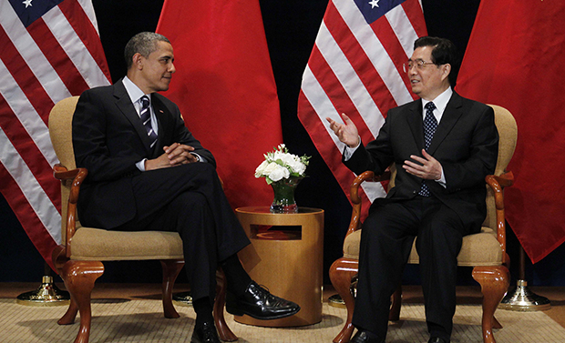 President Barack Obama meets with Chinese President Hu Jintao on the sidelines of the G-20 summit in Seoul, South Korea, Thursday, November 11, 2010.