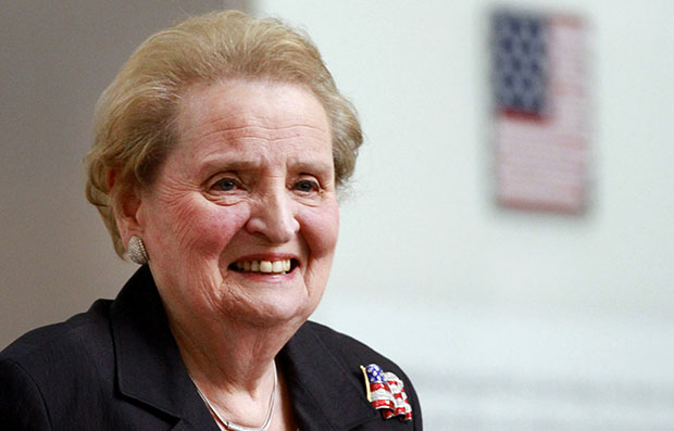 Former Secretary of State Madeleine Albright is seen at the Smithsonian National Museum of American History in Washington, May 24, 2012.