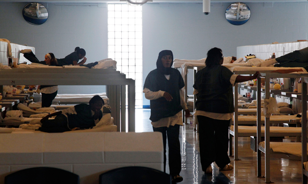Inmates are seen at Integrity House, a transitional housing and residential treatment area for women incarcerated at the Hudson County Correctional Center in Kearney, New Jersey on August 2, 2011.
