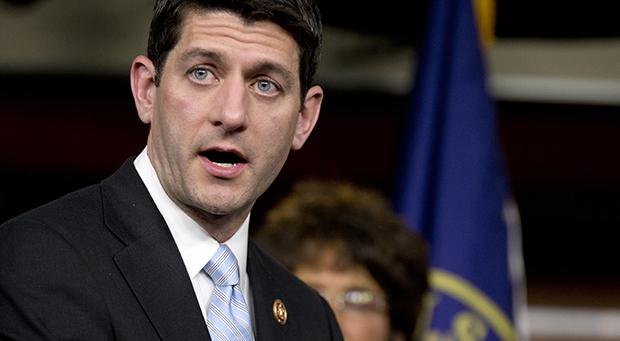 El Presidente del Comité de Presupuesto de la Cámara Paul Ryan (R-WI) habla sobre la resolución del presupuesto del 2014 el martes 12 de marzo de 2013, durante una rueda de prensa en el Capitolio en Washington.
