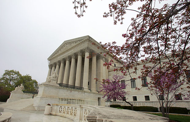 The U.S. Supreme Court in Washington is seen March 24, 2012, two days before the court began hearing arguments on the constitutionality of the Affordable Care Act. The Supreme Court later upheld the law and made Medicaid expansion optional for states.