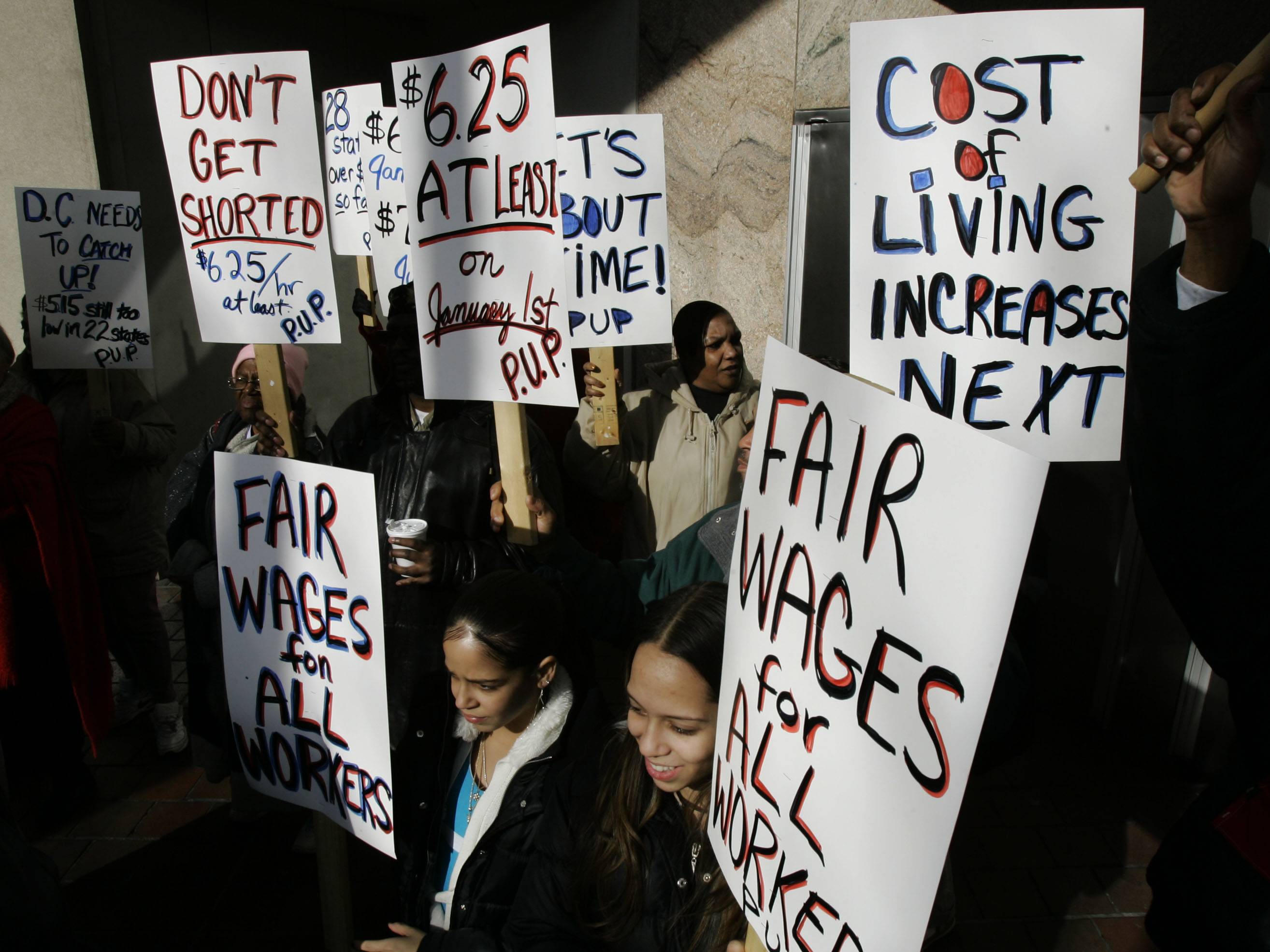 growing occupations could help decrease the wage gap if they were ap matt rourkesupporters of pennsylvania s new law increasing the minimum wage rally in philadelphia if women were paid a living wage the gender based