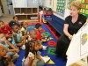Cheryl Schmidt and her preschool class