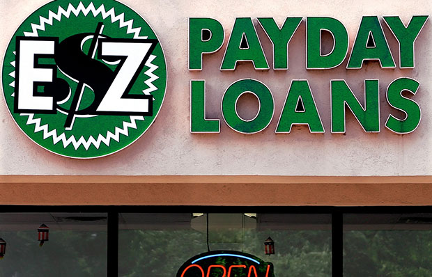 The Payday Loans store in Springfield, Illinois, is shown open for business in June 2006.
