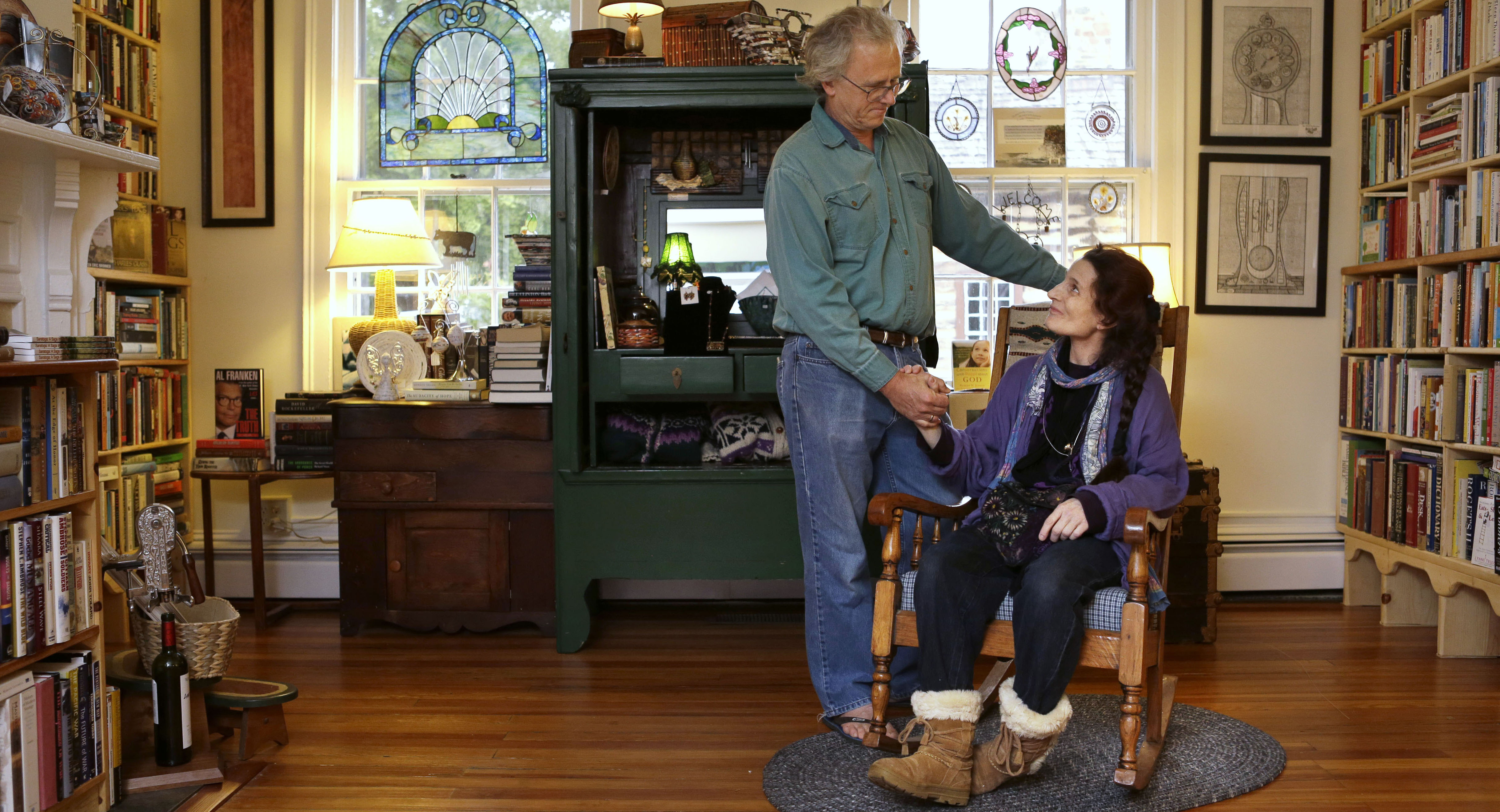 Jacquelyn Martinallen Robinson And His Wife Nancy King Robinson Pose For  A Portrait In Their Store, Books And Other Found Things, In Leesburg,  Virginia