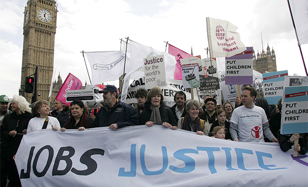 Jobs Justice rally