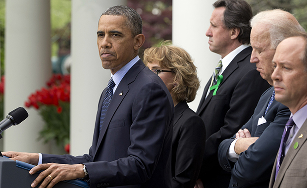 Barack Obama, Joe Biden, Gabby Giffords, Mark Barden