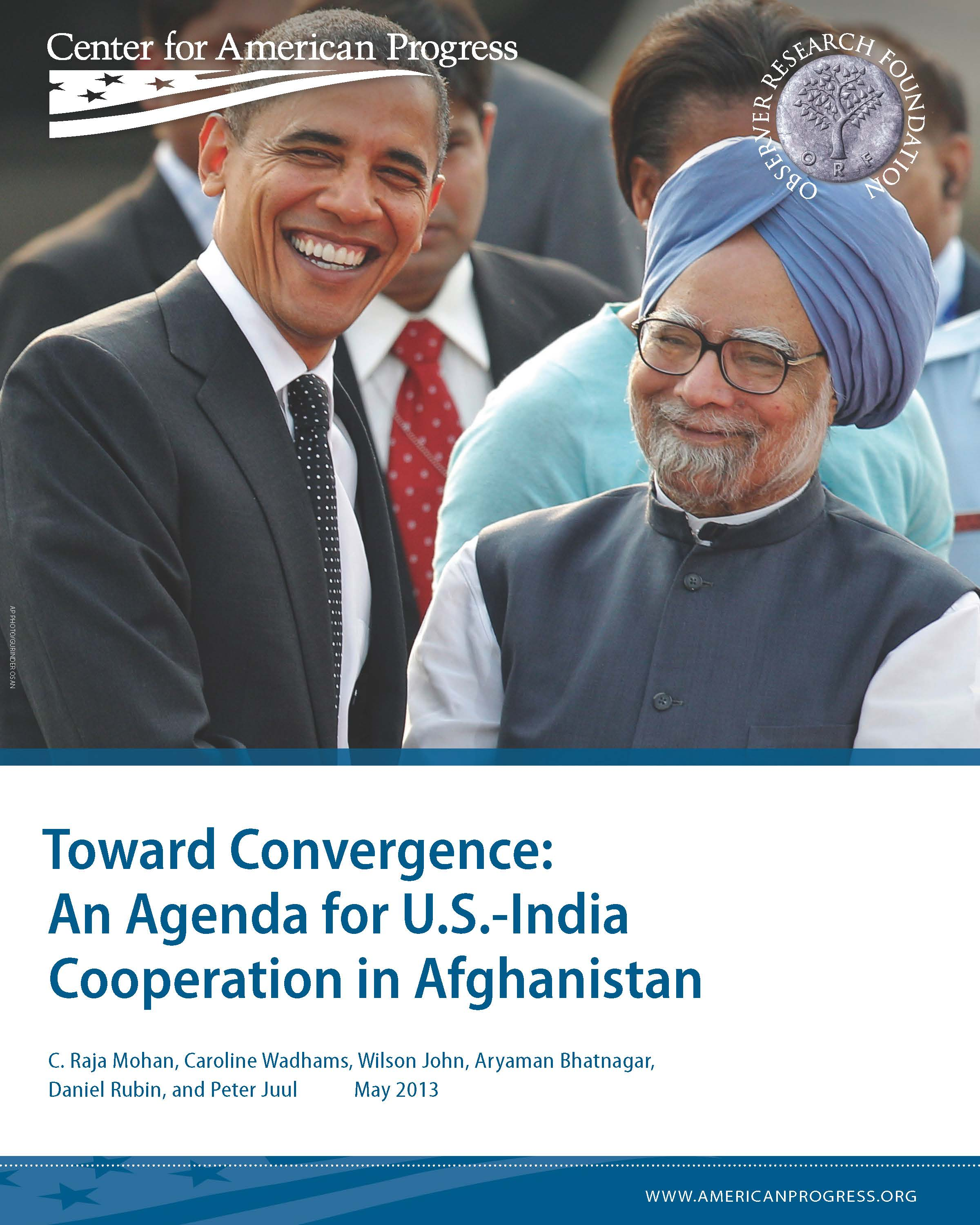 Toward Convergence: An Agenda for U.S.-India Cooperation in Afghanistan
