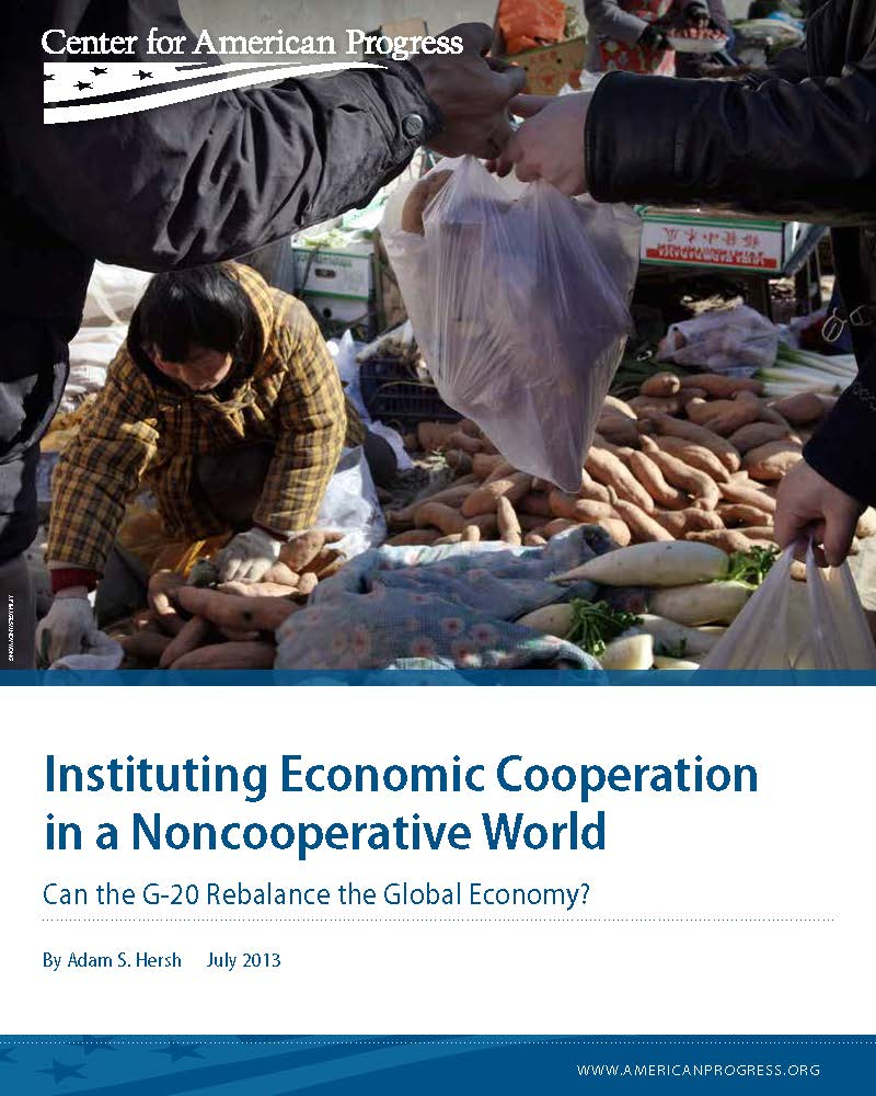 Instituting Economic Cooperation in a Noncooperative World