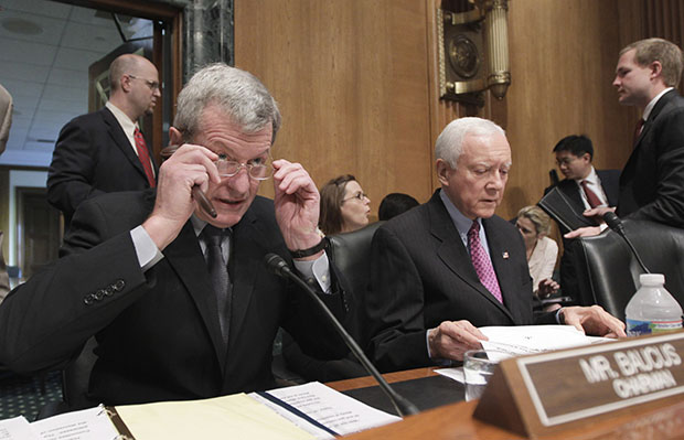 Senate Finance Committee Chairman Max Baucus and Ranking Member Orrin Hatch