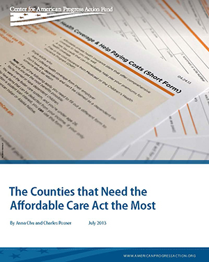 The Counties that Need the Affordable Care Act the Most