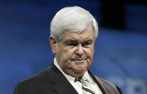 Former House Speaker Newt Gingrich (R-GA) appears during the 40th annual Conservative Political Action Conference in National Harbor, Maryland, March 16, 2013.