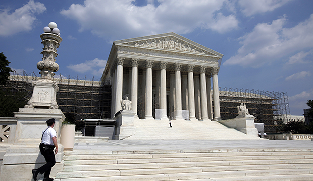 The U.S. Supreme Court is seen in Washington.