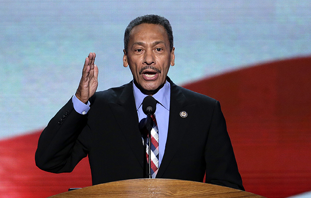 Rep. Mel Watt (D-NC) addresses the Democratic National Convention in Charlotte, North Carolina, Thursday, September 6, 2012.