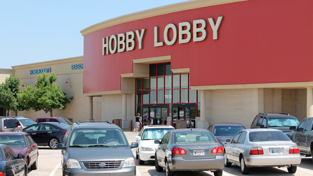 The Hobby Lobby store in Oklahoma City, Oklahoma, is pictured on June 27, 2013.