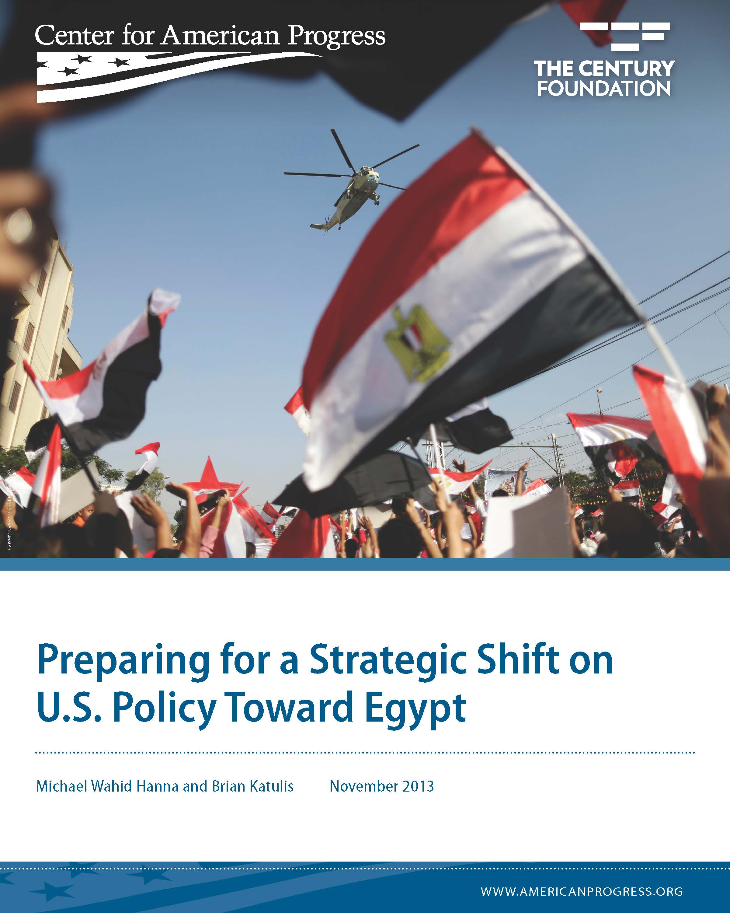 Preparing for a Strategic Shift on U.S. Policy Toward Egypt