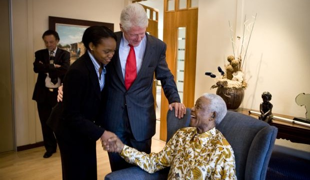Dawn Mabery, Bill Clinton, Nelson Mandela