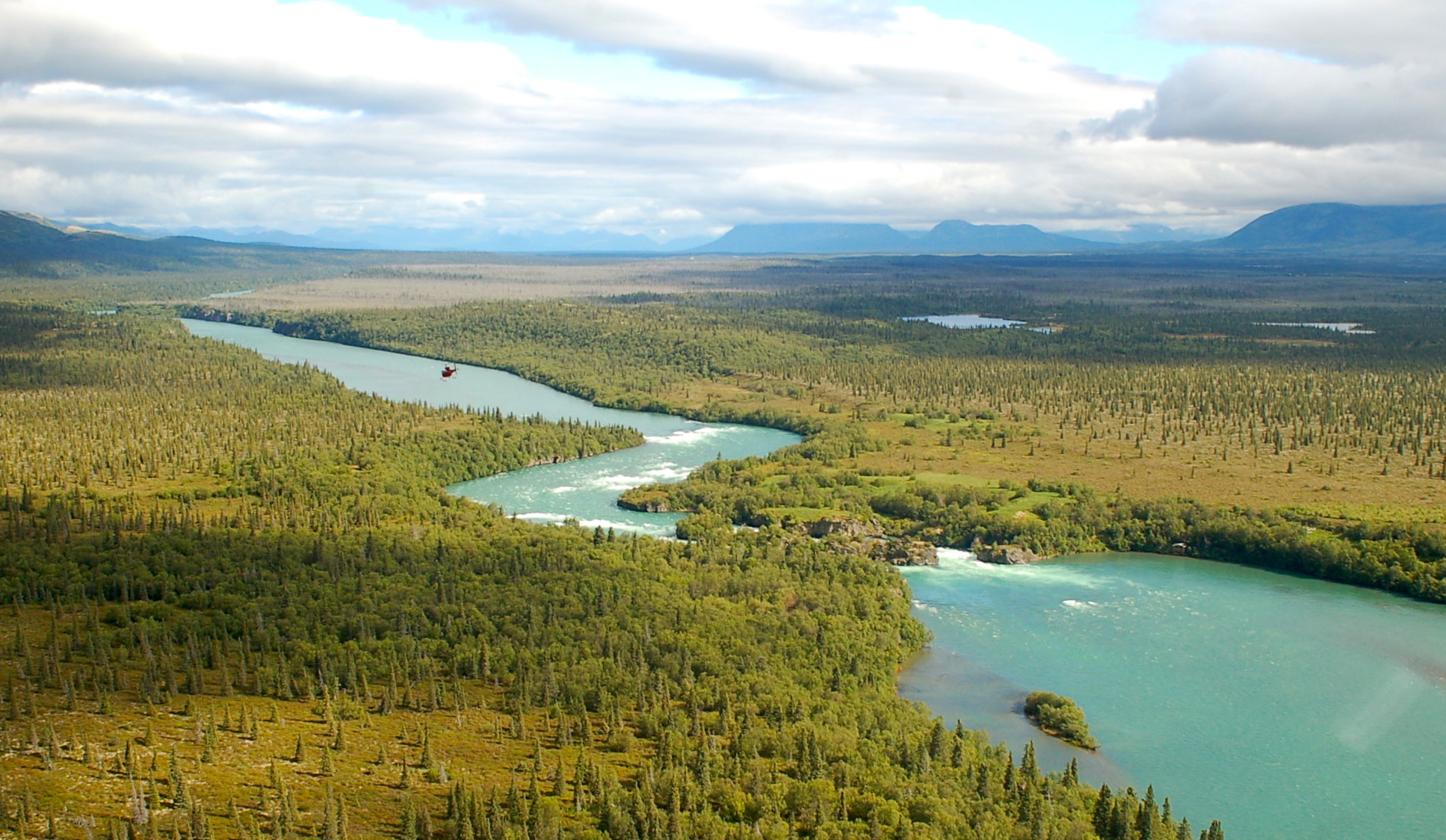 The Newhalen River runs within a few miles of the Pebble Mine site near Lake Clark National Park and Preserve.