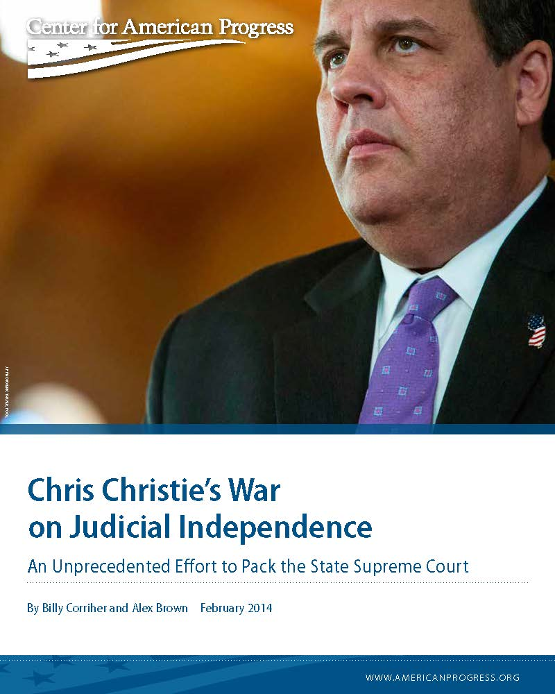 Chris Christie's War on Judicial Independence