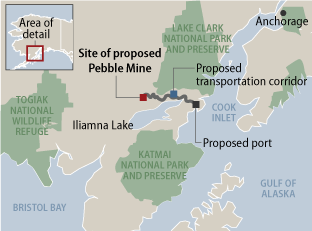 Pebble Mine map