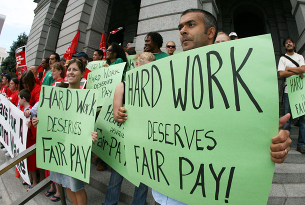 Minimum wage demonstration