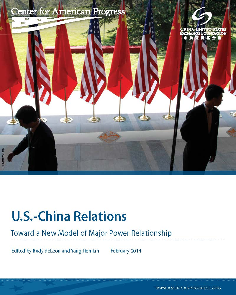 U.S.-China Relations: Toward a New Model of Major Power Relationship
