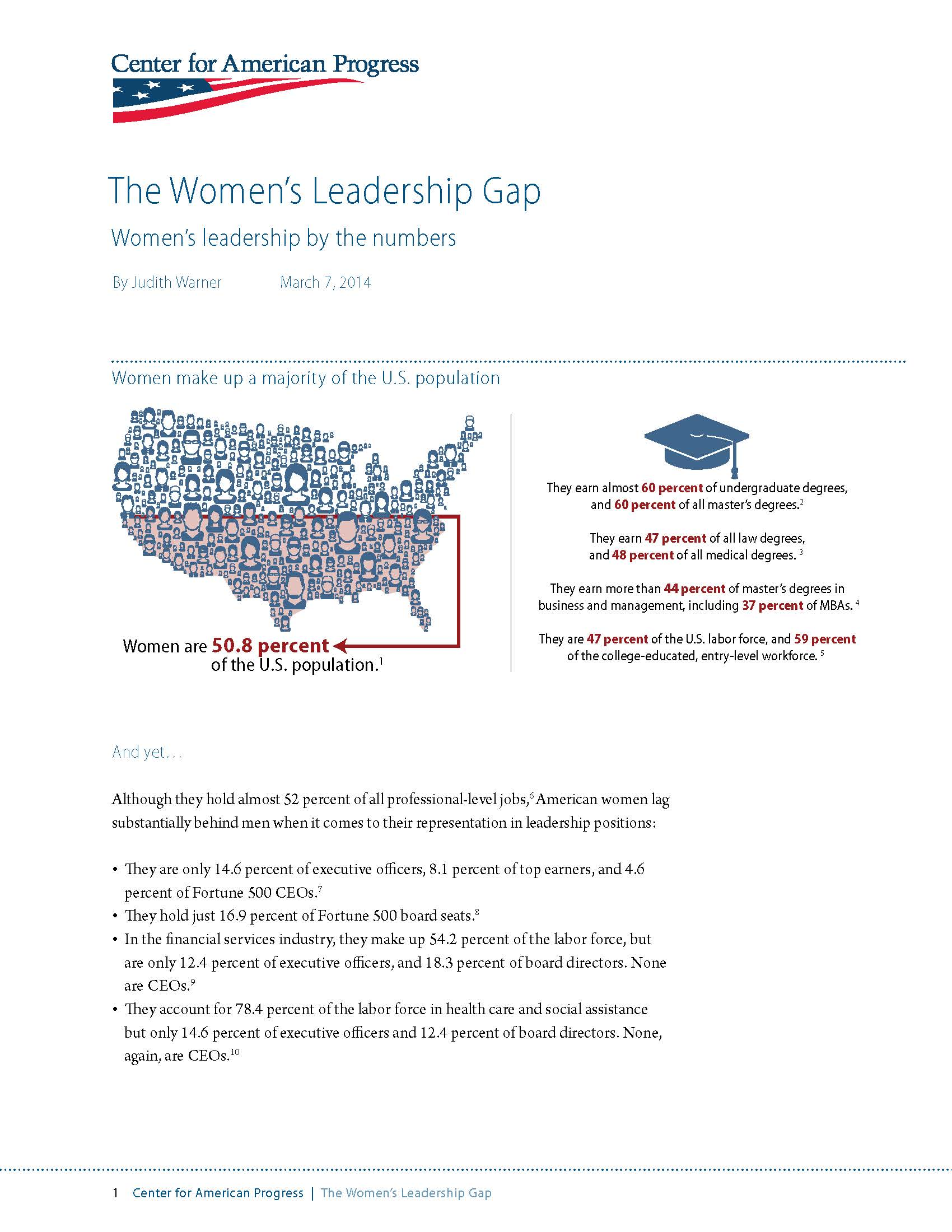 Fact Sheet: The Women's Leadership Gap