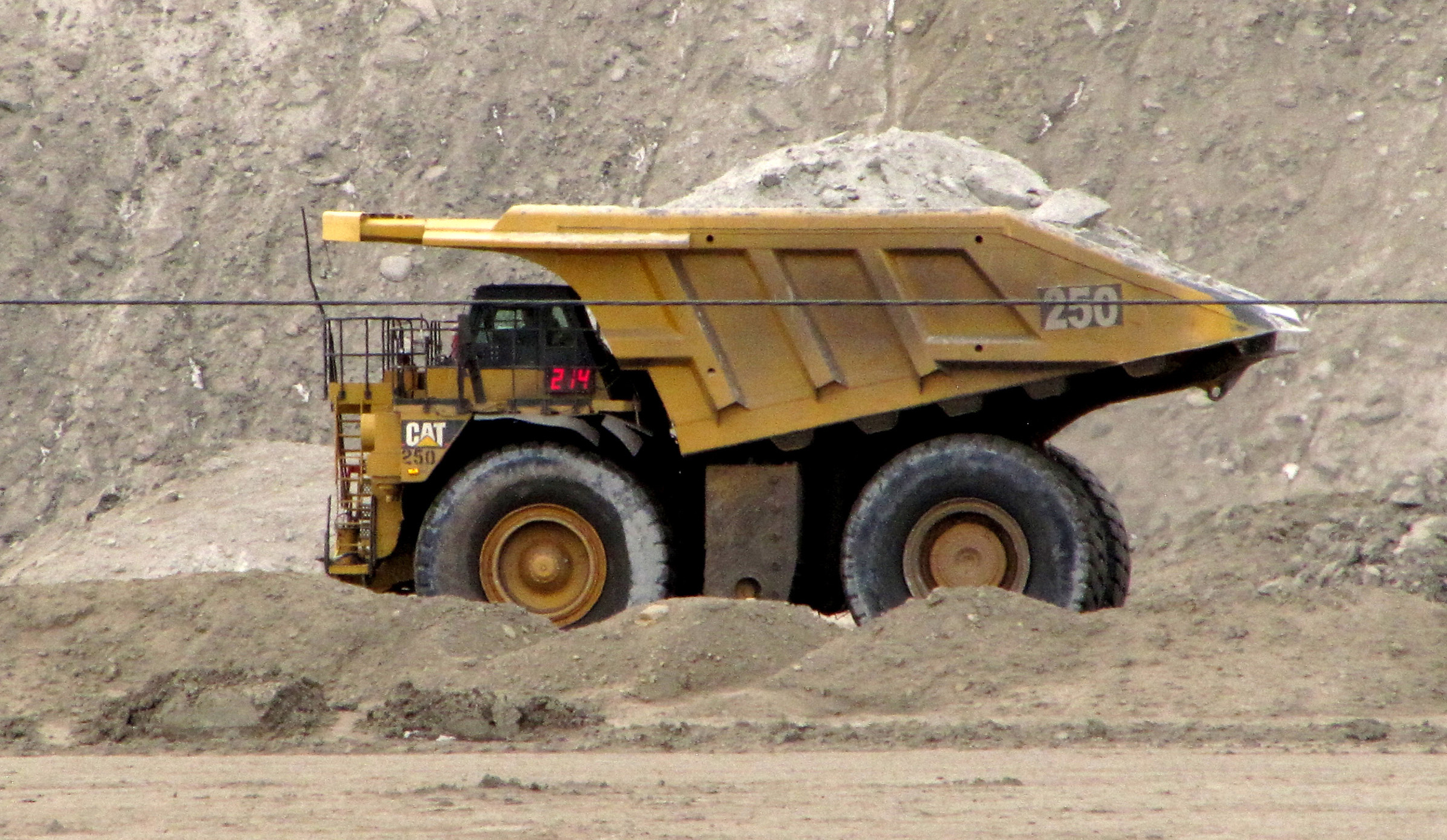 A house-sized dump truck at the Black Thunder coal mine in the Powder River Basin near Wright, Wyoming, on March 26, 2013.