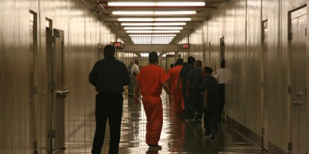 Detainees leave detention center cafeteria