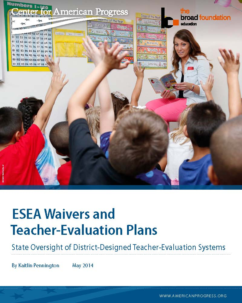 ESEA Waivers and Teacher-Evaluation Plans