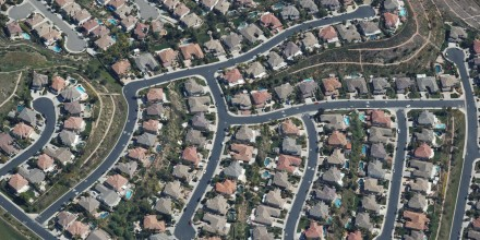 A housing development in Orange County, California.