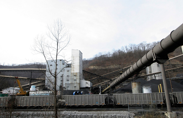 The Sidney Coal Company's Coal Preparation Plant is seen in Sidney, Kentucky.