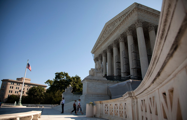 The Supreme Court decision is shown in Washington, D.C. The Supreme Court decided today that corporations can hold religious objections that allow them to opt out of the new health law requirement that they cover contraceptives for women.