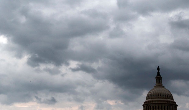 cloudy capitol dome